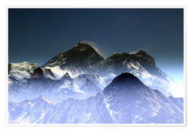 Premiumposter  Everest summit - Gerhard Albicker