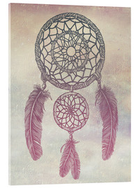 Akrylglastavla  Dream Catcher Rose - Rachel Caldwell