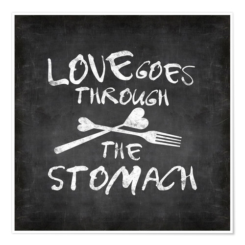Premiumposter Love goes through the stomach