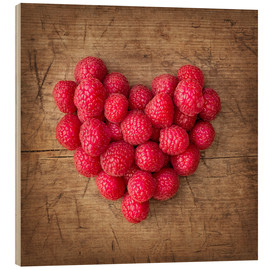 Trätavla  Heart from berries - Elena Schweitzer