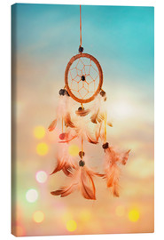 Canvastavla  Dream catcher and abstract bokeh background - Elena Schweitzer