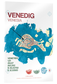 Akrylglastavla  Venice city motif card - campus graphics