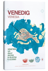 Canvastavla  Venice city motif card - campus graphics