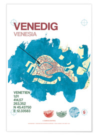 Premiumposter  Venice city motif card - campus graphics