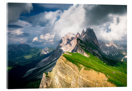 Akrylglastavla  Seceda - South Tyrol - Mountain panorama - Sebastian Jakob