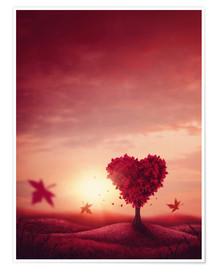 Premiumposter heart tree