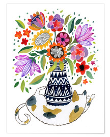 Poster Calico Cat Bouquet