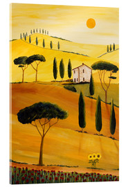 Akrylglastavla  Colored Tuscany - Christine Huwer