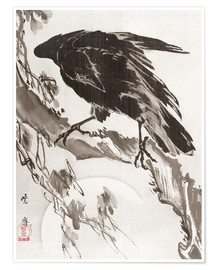 Premiumposter  Crow and the Moon - Kawanabe Kyosai
