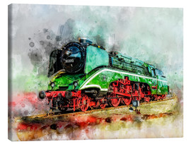 Canvastavla  Steam locomotive 18 201, the fastest steam locomotive in the world - Peter Roder