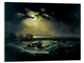 Akrylglastavla  Fishermen at Sea - Joseph Mallord William Turner
