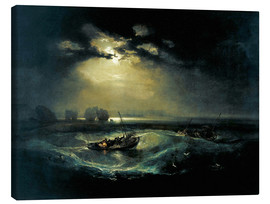 Canvastavla  Fishermen at Sea - Joseph Mallord William Turner