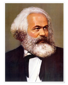 Premiumposter Portrait of Karl Marx