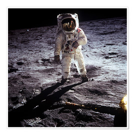 Poster  1st steps of human on Moon