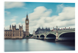 Akrylglastavla  LONDON, Big Ben and Westminster Bridge - rclassen