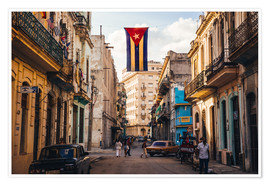 Premiumposter  A Cuban flag with holes - Julian Peters