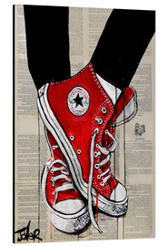 Aluminiumtavla  Not without my red shoes - Loui Jover