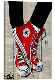 Canvastavla  Not without my red shoes - Loui Jover