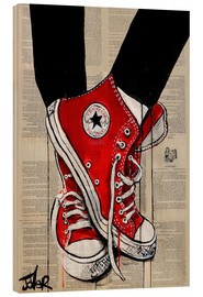 Trätavla  Not without my red shoes - Loui Jover
