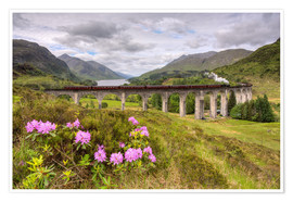 Premiumposter  Glenfinnan Viaduct in Scotland with Jacobite Steam Train - Michael Valjak