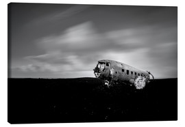Canvastavla  Airplane wreck on Iceland - Muharrem Ünal