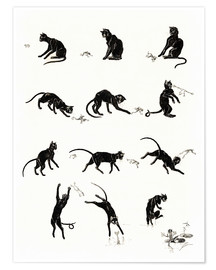 Premiumposter  The cat and the frog - Théophile-Alexandre Steinlen