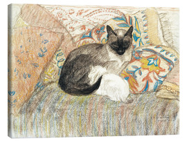 Canvastavla  Siamese Cat and her kitten - Théophile-Alexandre Steinlen