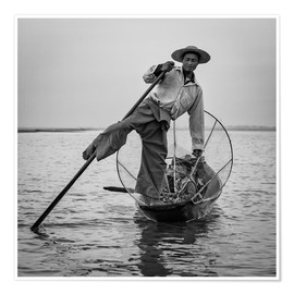 Premiumposter Fisherman in Myanmar