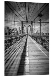 Akrylglastavla  Brooklyn Bridge, New York City - Melanie Viola