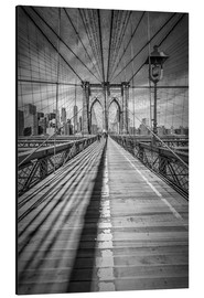 Aluminiumtavla  Brooklyn Bridge, New York City - Melanie Viola