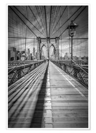 Poster  Brooklyn Bridge, New York City - Melanie Viola