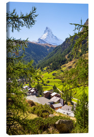 Canvastavla  View of Zermatt and the Matterhorn, Swiss Alps, Switzerland - Jan Christopher Becke