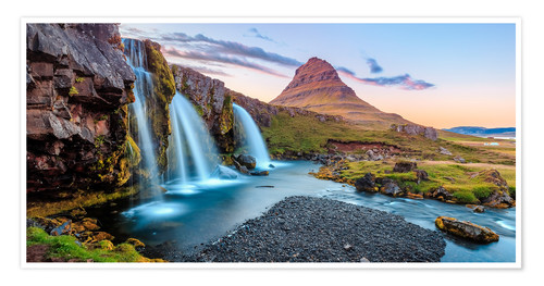 Premiumposter Magical Iceland, Waterfall on Snaefellsnes