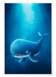 Premiumposter Cute whale