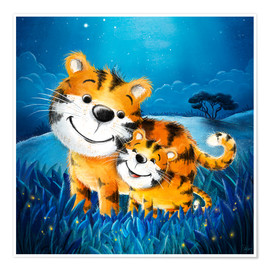 Poster Cute tigers