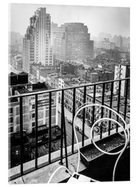 Akrylglastavla  New York: View from penthouse, 56 Seventh Avenue, Manhattan - Christian Müringer