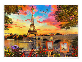 Premiumposter  Paris Sunset - Dominic Davison