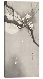 Canvastavla  Plum Blossoms at Night - Ohara Koson