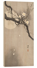 Trätavla  Plum Blossoms at Night - Ohara Koson