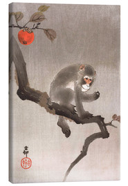 Canvastavla  Monkey in a Tree - Ohara Koson