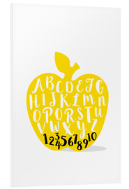 PVC-tavla  ABC apple yellow - Ohkimiko