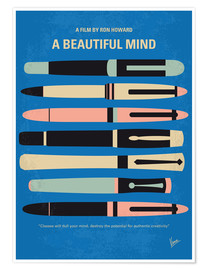 Premium poster No809 My A Beautiful Mind minimal movie poster