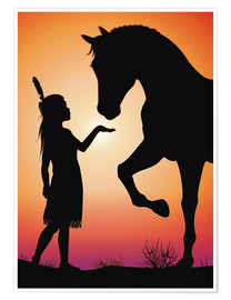 Poster  Horse whisperer - Kidz Collection