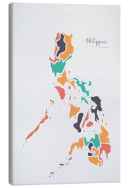 Canvastavla  Philippines map modern abstract with round shapes - Ingo Menhard