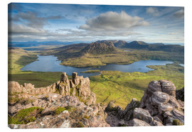 Canvastavla  View from Stac Pollaidh in Scotland - Michael Valjak