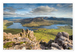 Premiumposter  View from Stac Pollaidh in Scotland - Michael Valjak