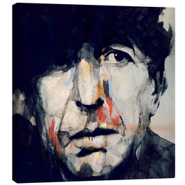 Canvastavla  Leonard Cohen - Paul Lovering Arts