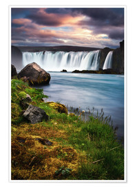 Premiumposter Godafoss waterfall Iceland