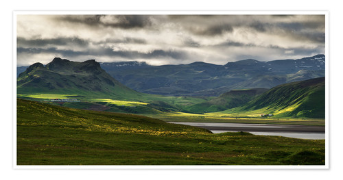 Premiumposter The beauty of Iceland