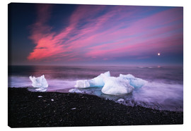 Canvastavla  Icebergs on the beach in Iceland - Dennis Fischer